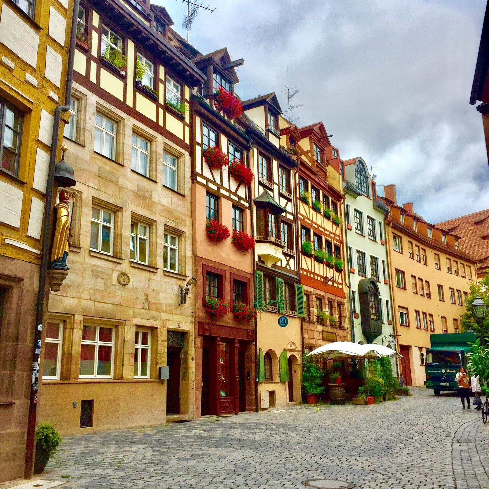 Mittelalterliche Architektur in Nürnberg