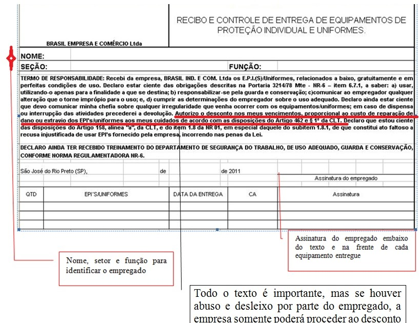 Importância Da Ficha De Entrega de EPI   Segurança do Trabalho 1d821b1d7e