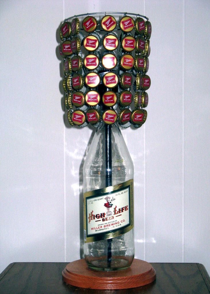 Miller High Life 40 Oz Bottle Lamp Complete With Bottle ...