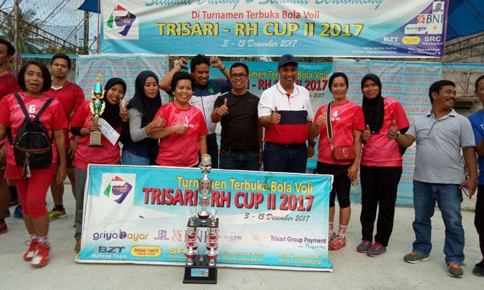 Tim KTM Volli Unhas dan GD 45 Juara di Turnamen Trisari-RH Cup II
