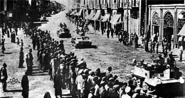 Soviets enter Tehran in Iran 17 September 1941 worldwartwo.filminspector.com