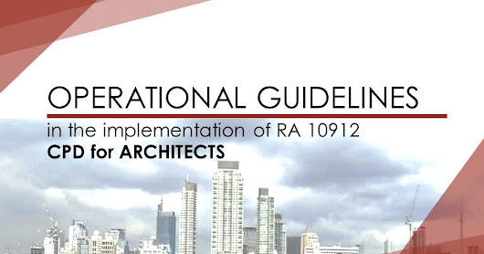 Draft CPD Guidelines for Architects