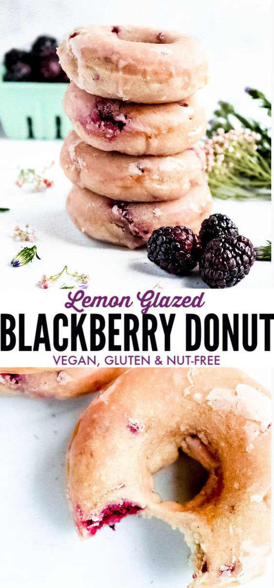 Baked Blackberry Donuts