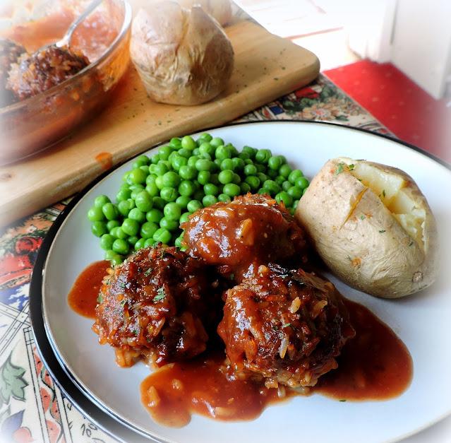 BBQ Porcupine Meatballs
