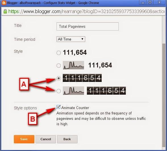 Add Blogger Priview's Counter Widget
