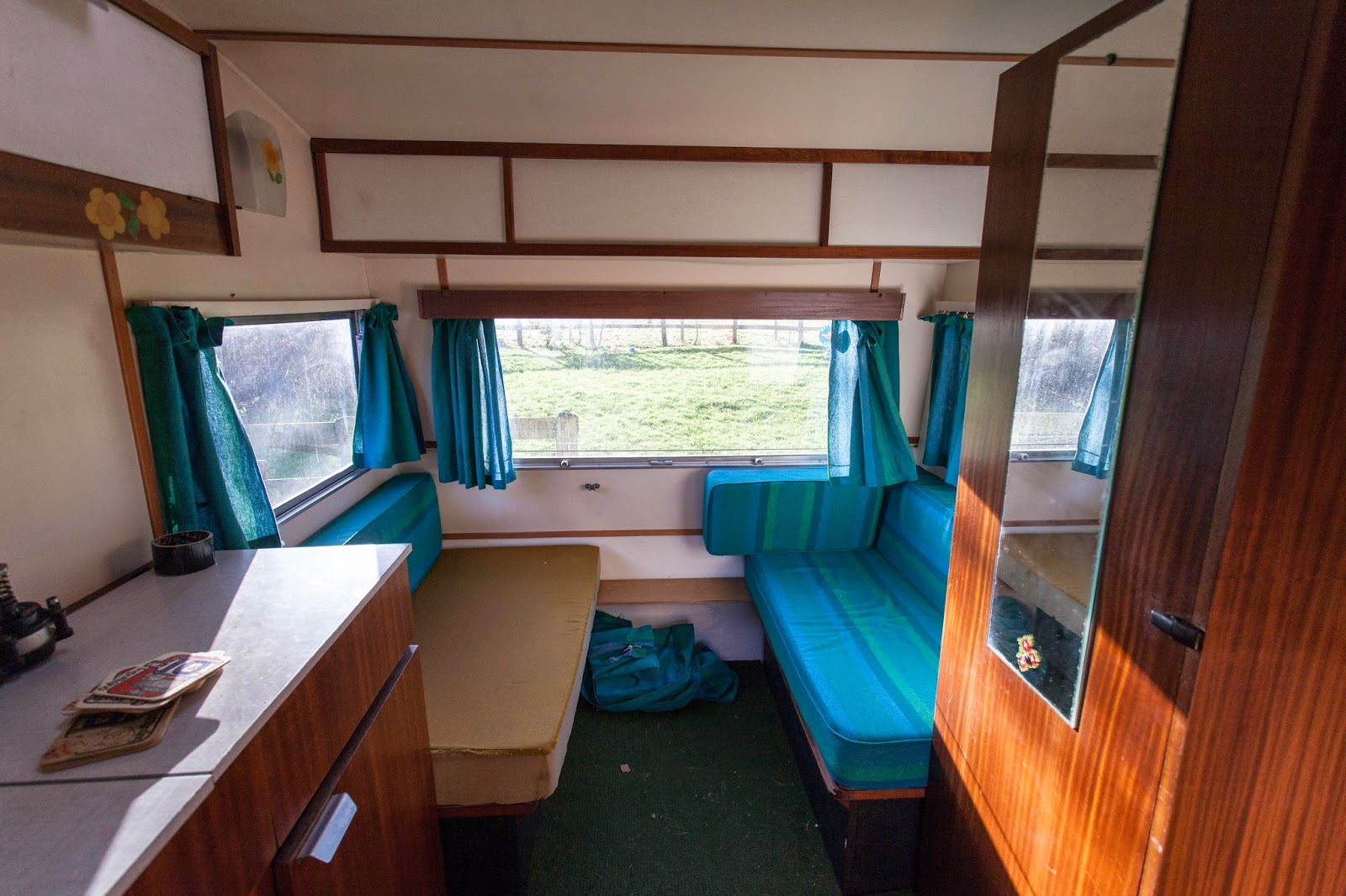 Grubby Cottage Vintage Caravan Interior Before Images