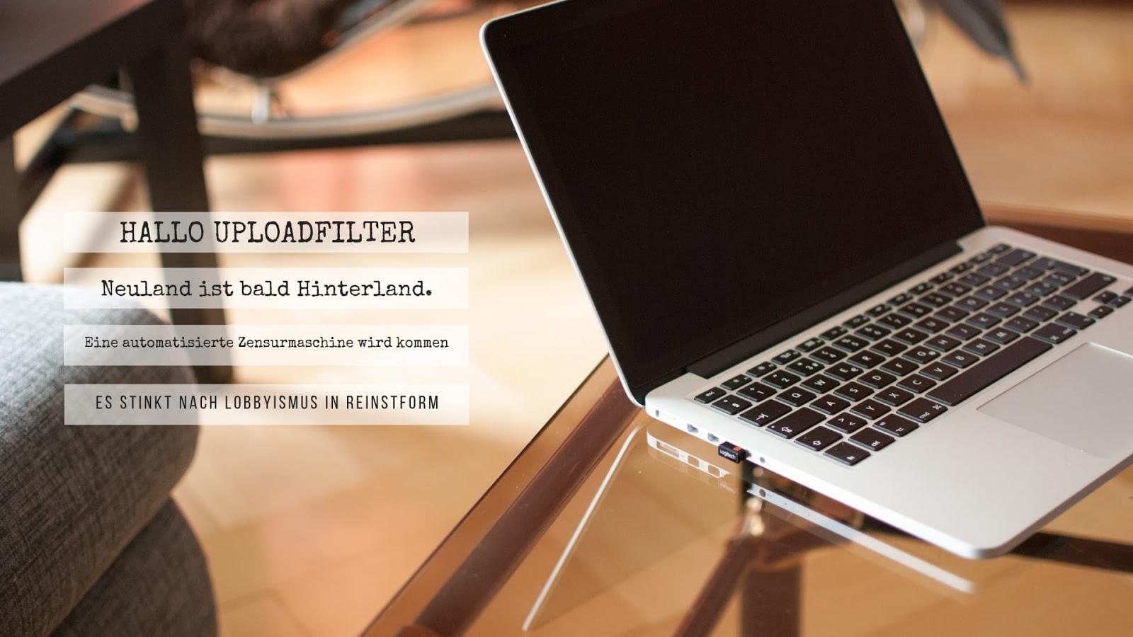 SINNIEREN TEIL XI | HALLO UPLOADFILTER - WTF!?