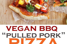 "Vegan BBQ ""Pulled Pork"" Pizza With Mango Salsa"