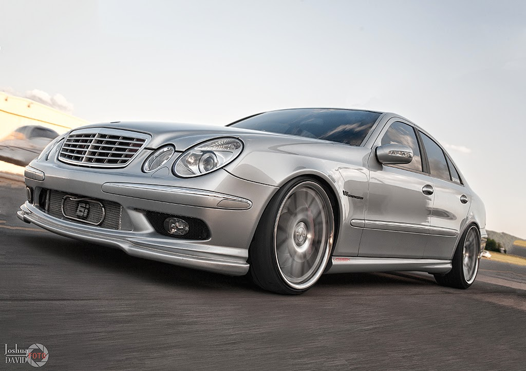 mercedes benz w211 e55 amg with vossen wheels benztuning. Black Bedroom Furniture Sets. Home Design Ideas