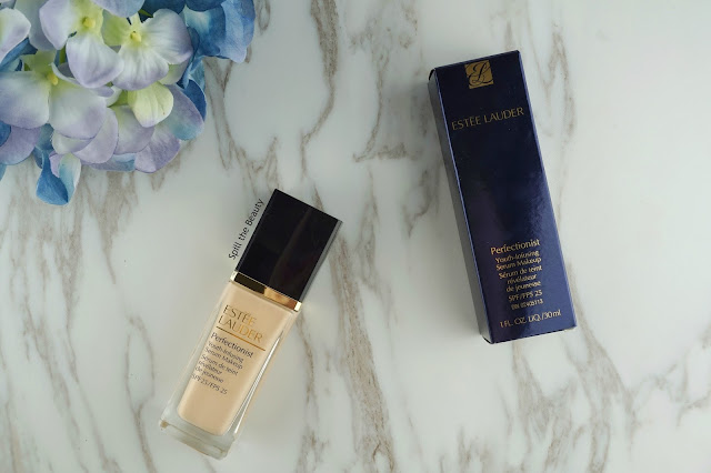 estee lauder perfectionist youth infusing serum makeup foundation review swatches before and after 1