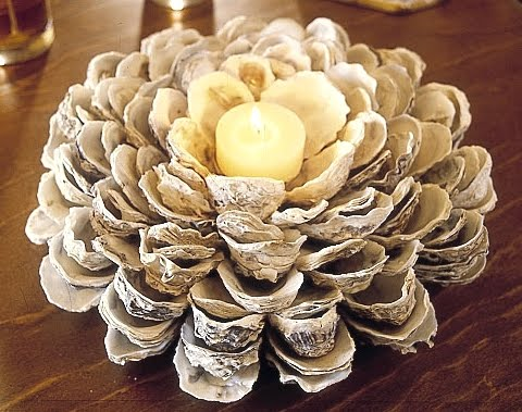 oyster shell candle holder tutorial