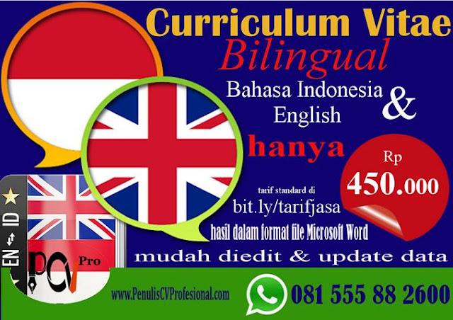 Jasa Pembuatan Curriculum Vitae Bahasa Inggris