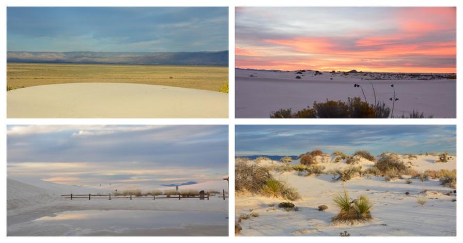 Lever de soleil sur White Sands