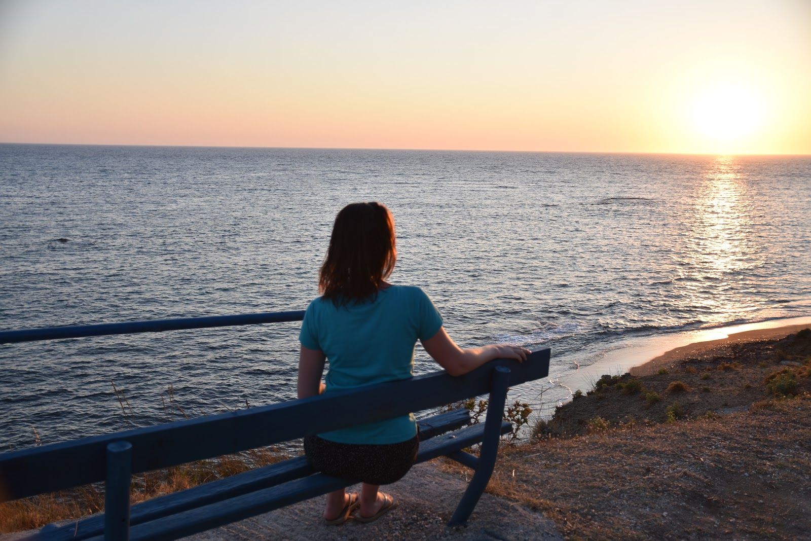 západ slunce v Mytikas Preveza Řecko