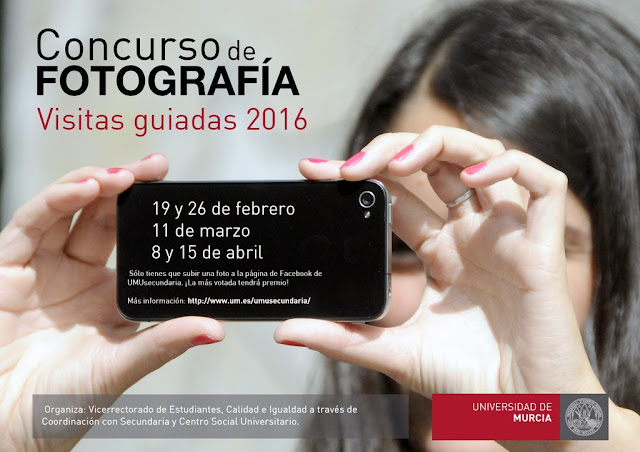 """""""II Concurso de fotografía en Facebook Visitas a la Universidad de Murcia 2016"""""""