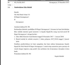 Contoh Surat Pemberitahuan Libur Mengaji pada Bulan Ramadhan