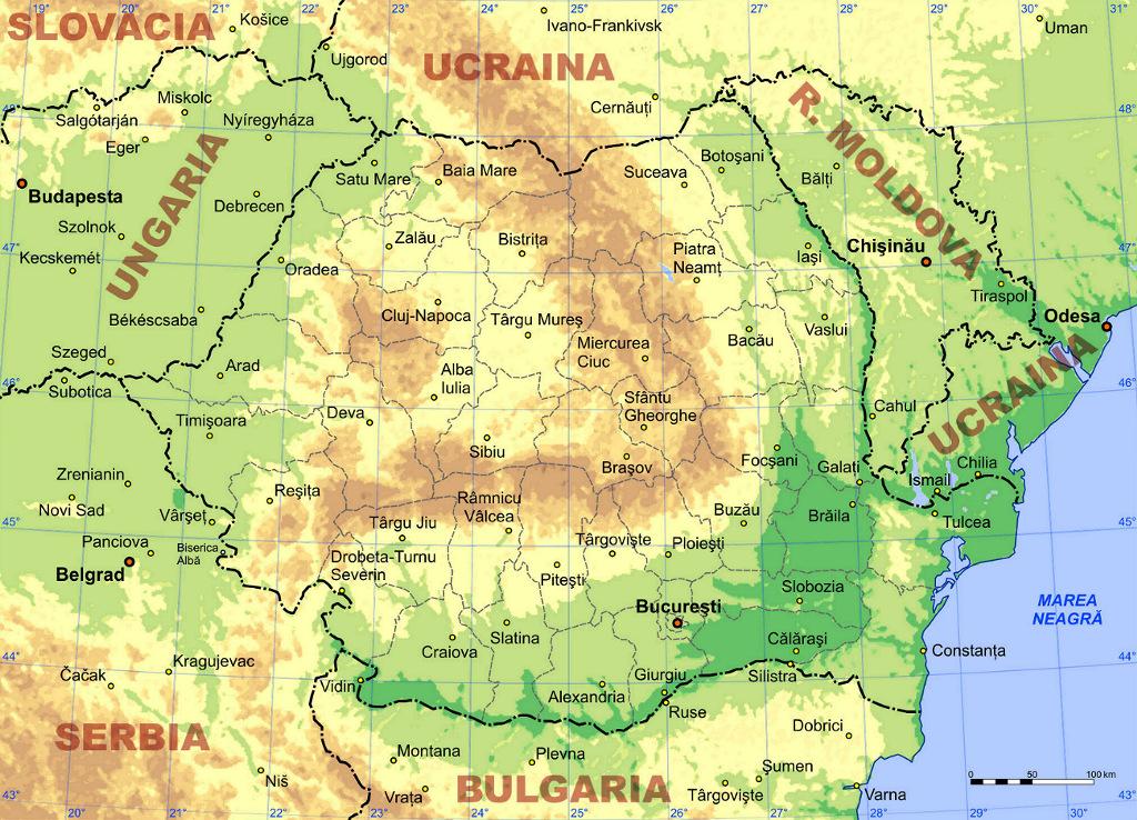 Romênia | Mapas Geográficos da Romênia