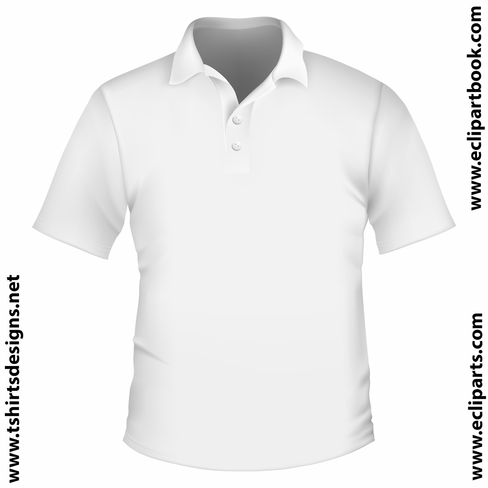 Buy plain white polo shirt front and back - 50% OFF!