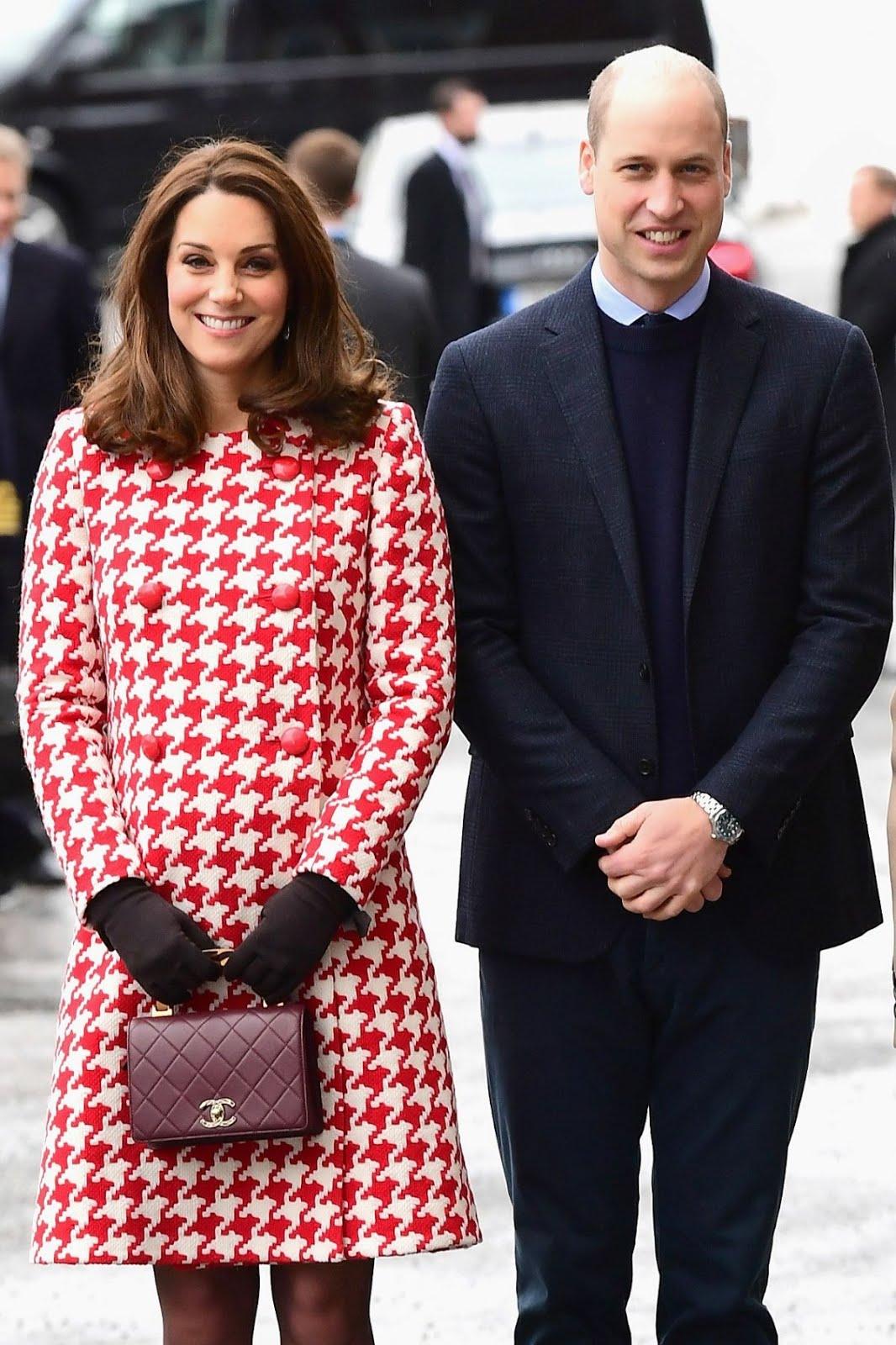 Kate Middleton And Crown Princess Victoria Of Sweden At Karolinska Institute In Stockholm