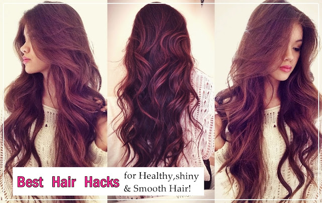 How to get healthy voluminous hair , How to get smooth and shiny hair, hair tips, best hair hacks, hair, perfect hair, hairstyle, beauty, beauty hacks