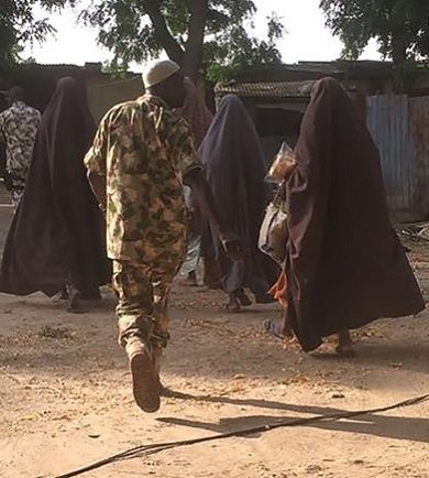 EXCLUSIVE Photos Of Chibok Girls Just RELEASED On Their Way to Borno
