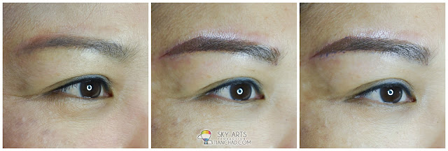 Ivy Brow Design Misty Brow Before and After - Right Eye
