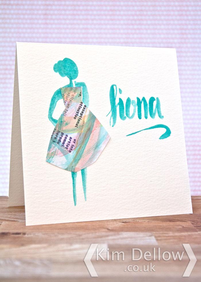 Mixed media Card design by Kim Dellow