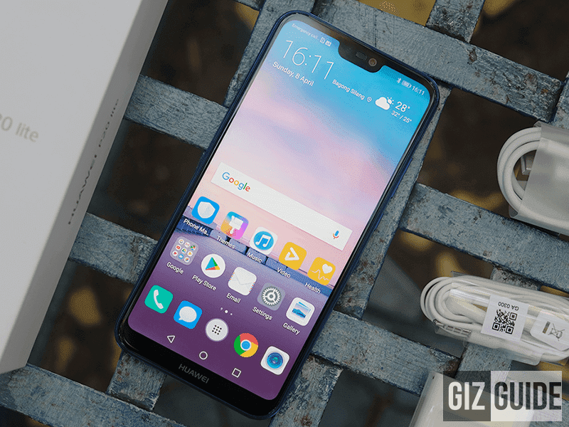 FHD+ screen with a notch