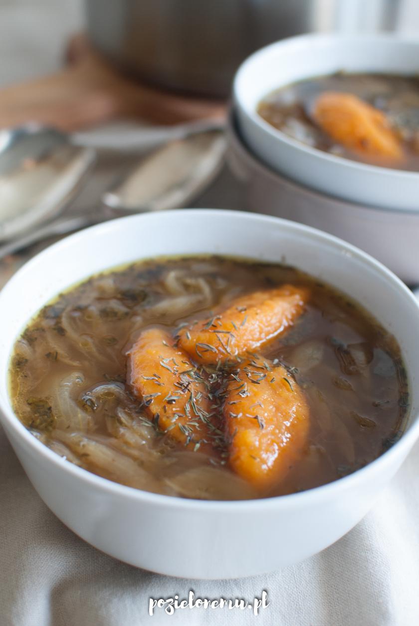 Moja zupa cebulowa (z dyniowymi kluseczkami)