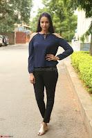 Poojita Super Cute Smile in Blue Top black Trousers at Darsakudu press meet ~ Celebrities Galleries 042.JPG