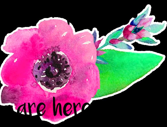 happy days watercolour flower blog graphic