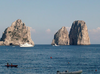 I faraglioni are a familiar landmark off the coast of Capri
