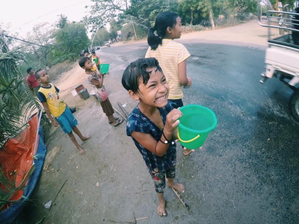 Thingyan water festival Myanmar