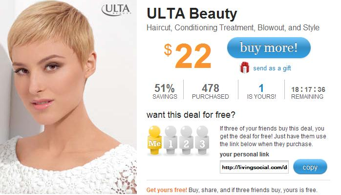 ulta haircut coupons living social hair cut at ulta for 22 norcal gal 2484 | New Picture
