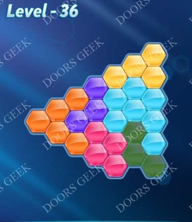 Block! Hexa Puzzle [6 Mania] Level 36 Solution, Cheats, Walkthrough for android, iphone, ipad, ipod