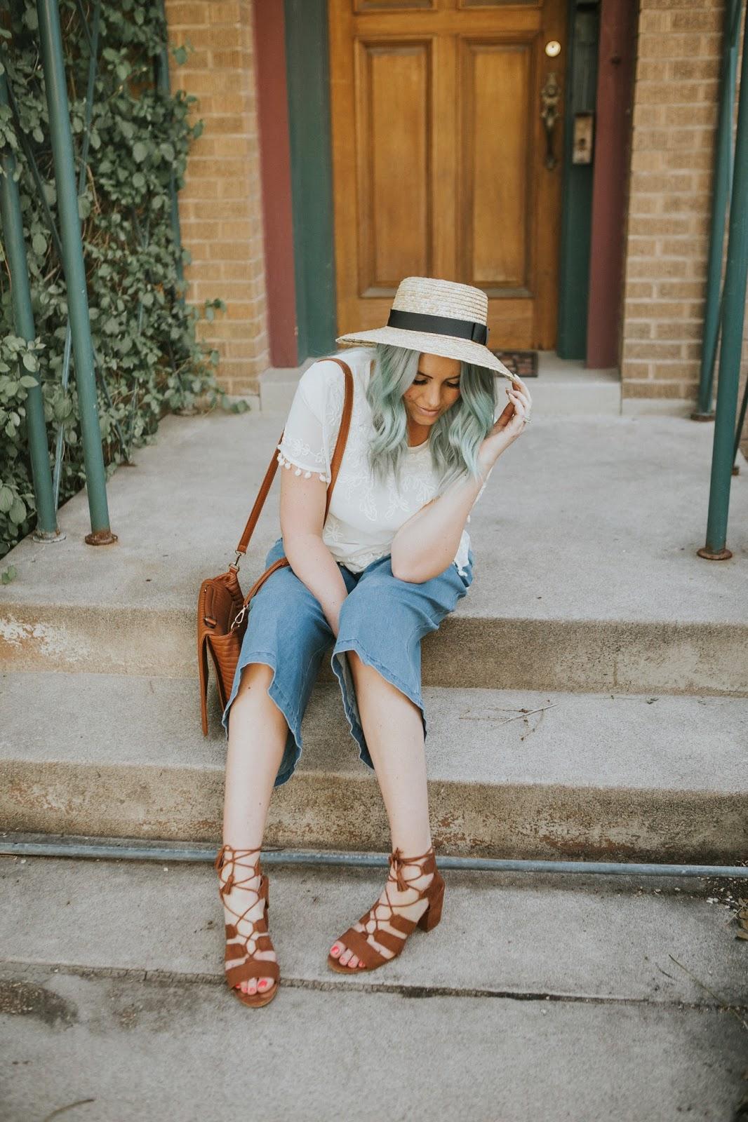 Utah Fashion Blogger, Blue Hair, Casual Outfit