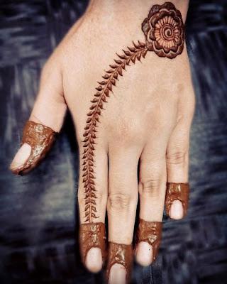 Mehandi Designs For Kids Back Hand