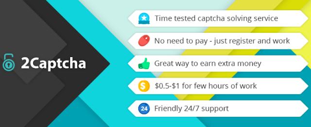 Cara mendapatkan $ 2-5 setiap hari hanya kerja ngetik di 2Captcha