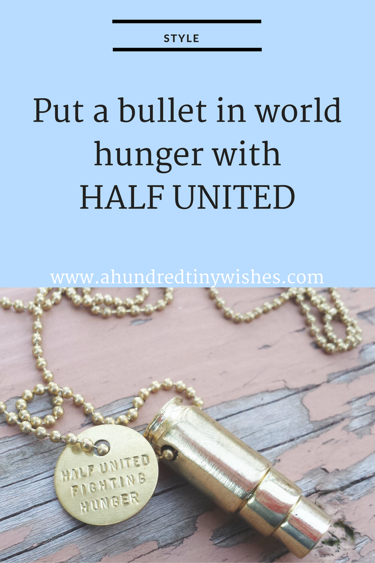 """Fighting Hunger"" bullet necklace"