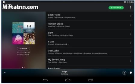 Aplikasi Dengar Musik Online Android Spotify Music Apk Terbaru