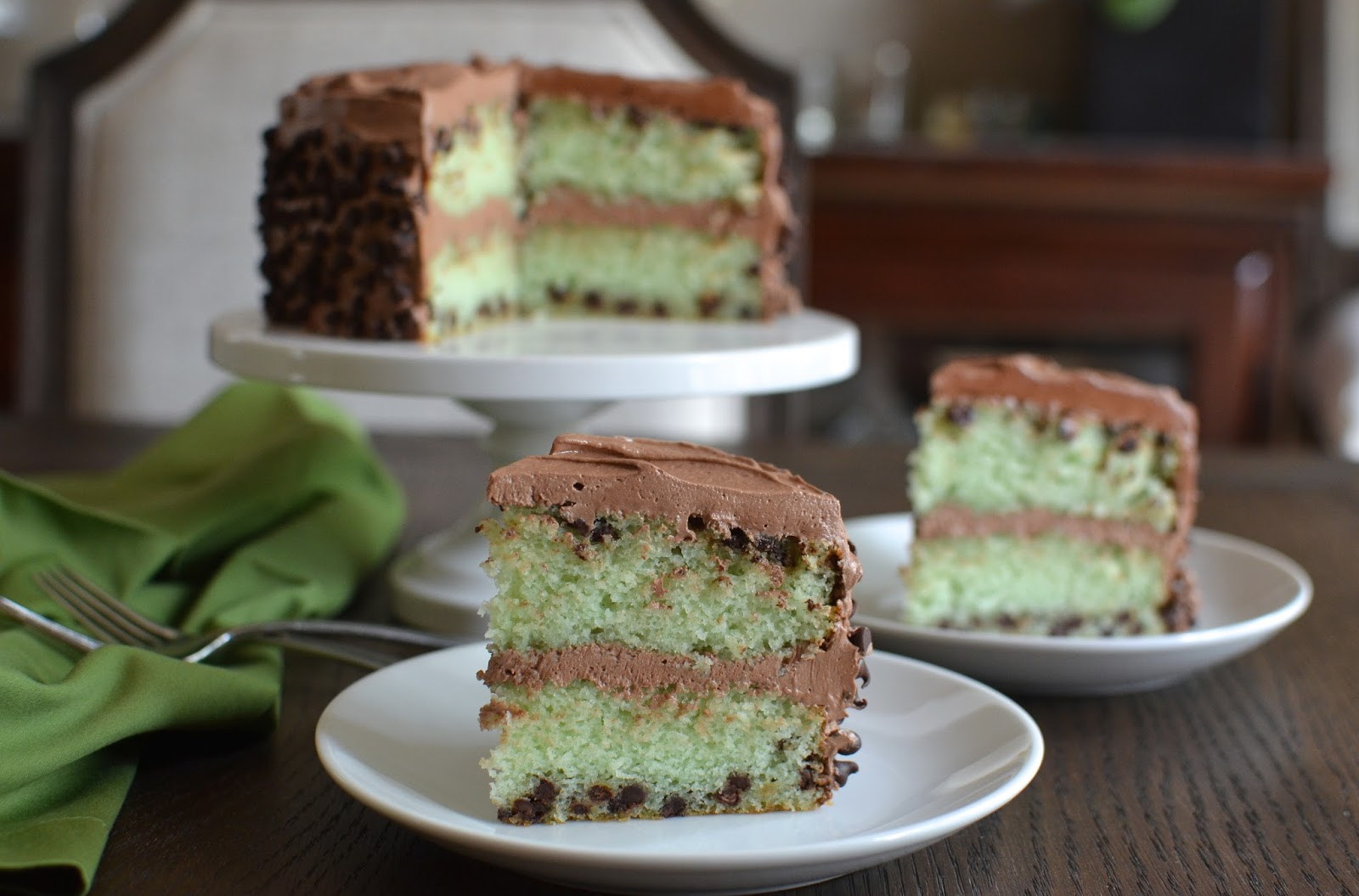Playing with Flour: Mint chocolate chip cake
