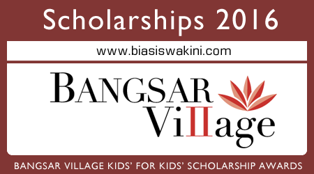 The Bangsar Village Kids' for Kids' Scholarship Awards 2016