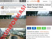Disinformasi Foto Istana Negara dan Bundaran HI Terkena Banjir Jakarta 2017