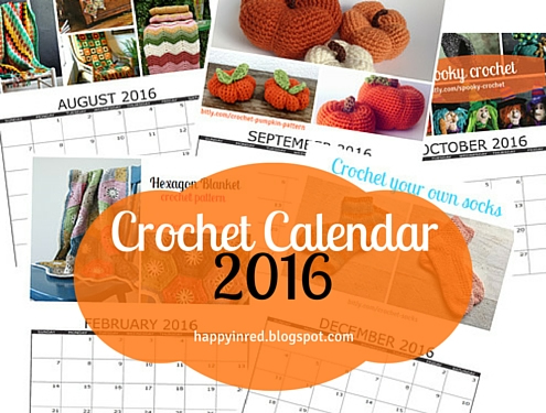 Crochet Calendar 2016 | Happy in Red
