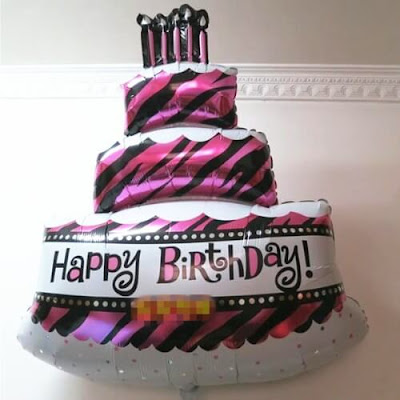 Balon Foil Happy Birthday Cake Jumbo