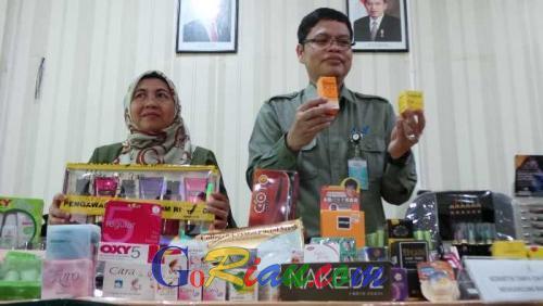 BBPOM Pekanbaru Sita Ribuan Kosmetik Mengandung Bahan Berbahaya Dari 33 Sarana Distribusi