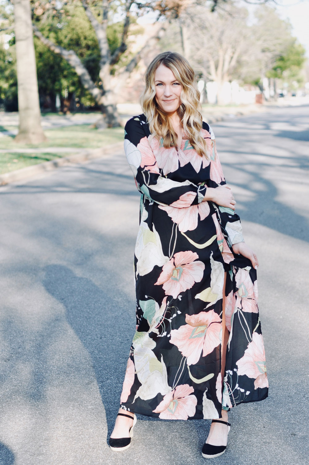 floral maxi from romwe
