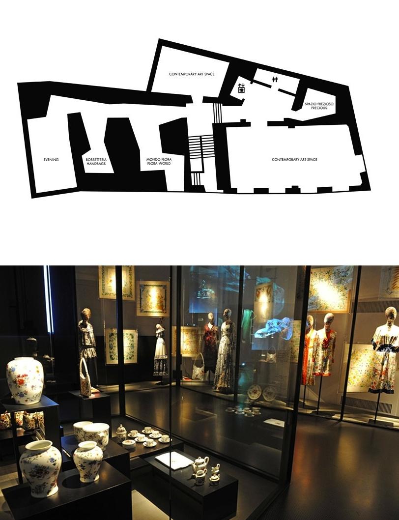 974bae6cc5 Nelle sale successive si entra nel vivo del museo con il Mondo Flora,  interamente dedicato alla produzione di abiti, borse e accessori derivati  dal primo ...