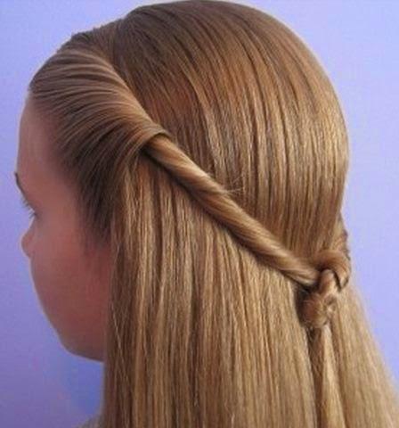 Peinados para nina paso a paso pelo largo faciles paso a - Peinados nina pelo largo ...