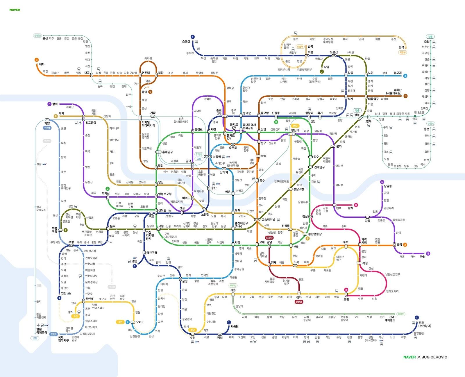 Korean Subway Map 2015.Bruce The Korean Seoul Metropolitan Subway Seoul Metro System